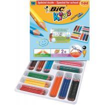 BIC - Class Pack de 144 crayons de couleur ECO KIDS EVOLUTION TRIANGLE