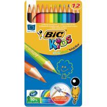 BIC - Boîte métal de 12 crayons de couleur ECO KIDS EVOLUTION