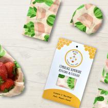 My Little Bee - Bee Wrap | Emballage alimentaire Bio | Lot de 3 Cactus
