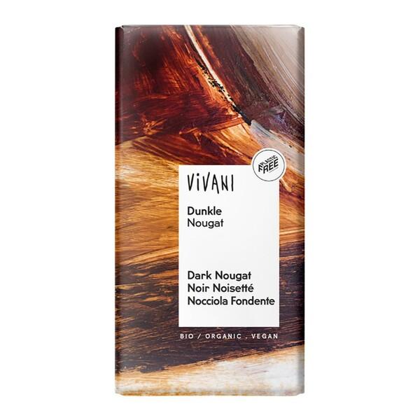 Vivani - Chocolat noir noisetté et nougat vegan 100g bio