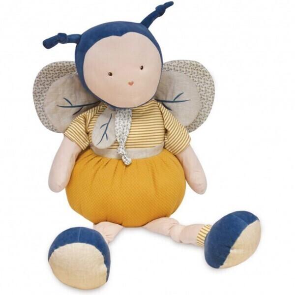 Doudou et Compagnie - Pantin XXL Pollen l'abeille bio