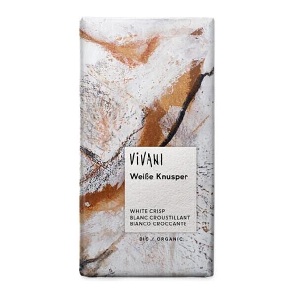Vivani - Chocolat blanc au riz croustillant 100g bio
