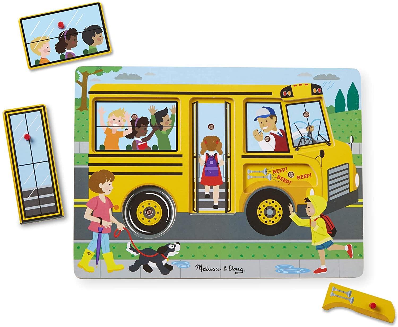 Melissa & Doug - Puzzle sonore - Bus scolaire
