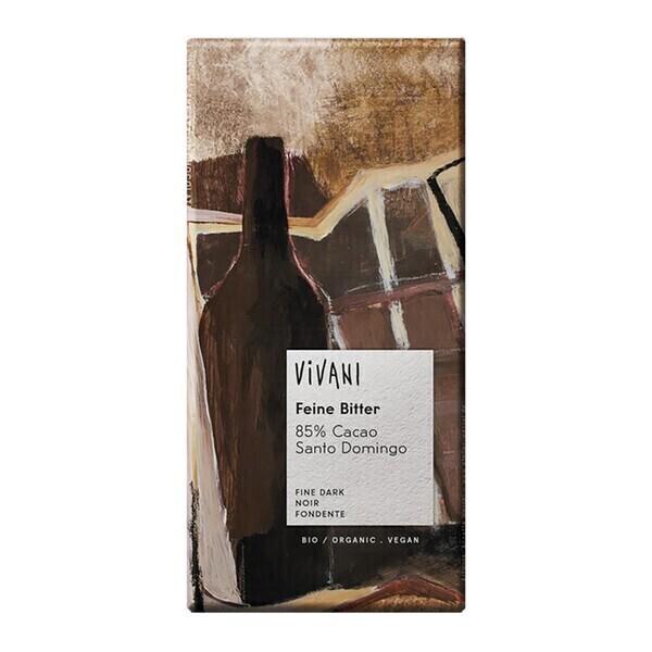 Vivani - Chocolat noir 85% cacao vegan 100g bio