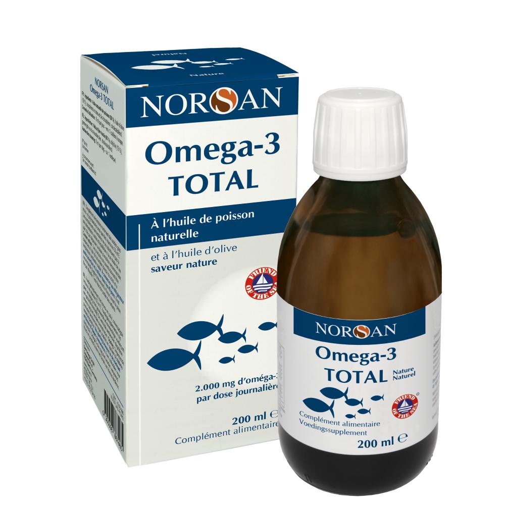 NORSAN - Norsan Omega 3 Total Nature 2000 mg Huile de Poisson 200 ml