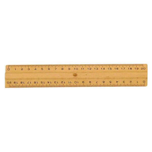 SAFETOOL - Règle plate de 20cm en bois naturel certifié PEFC