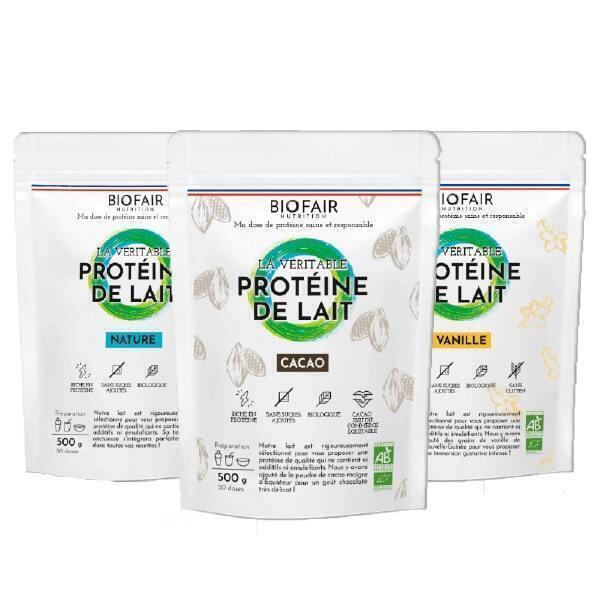 BIOFAIR NUTRITION - Pack Protéines de lait