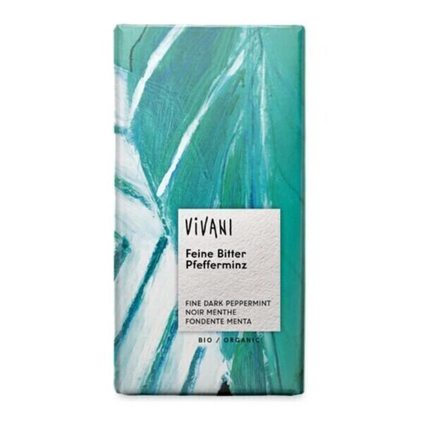 Vivani - Chocolat noir fourré menthe 100g bio