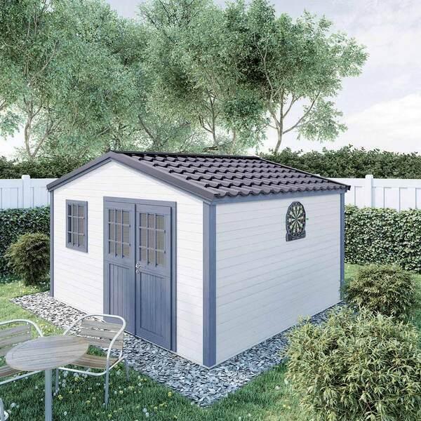 FOREST STYLE - Abri de jardin bois SHELTY PLUS 14m², toiture en acier galvanis