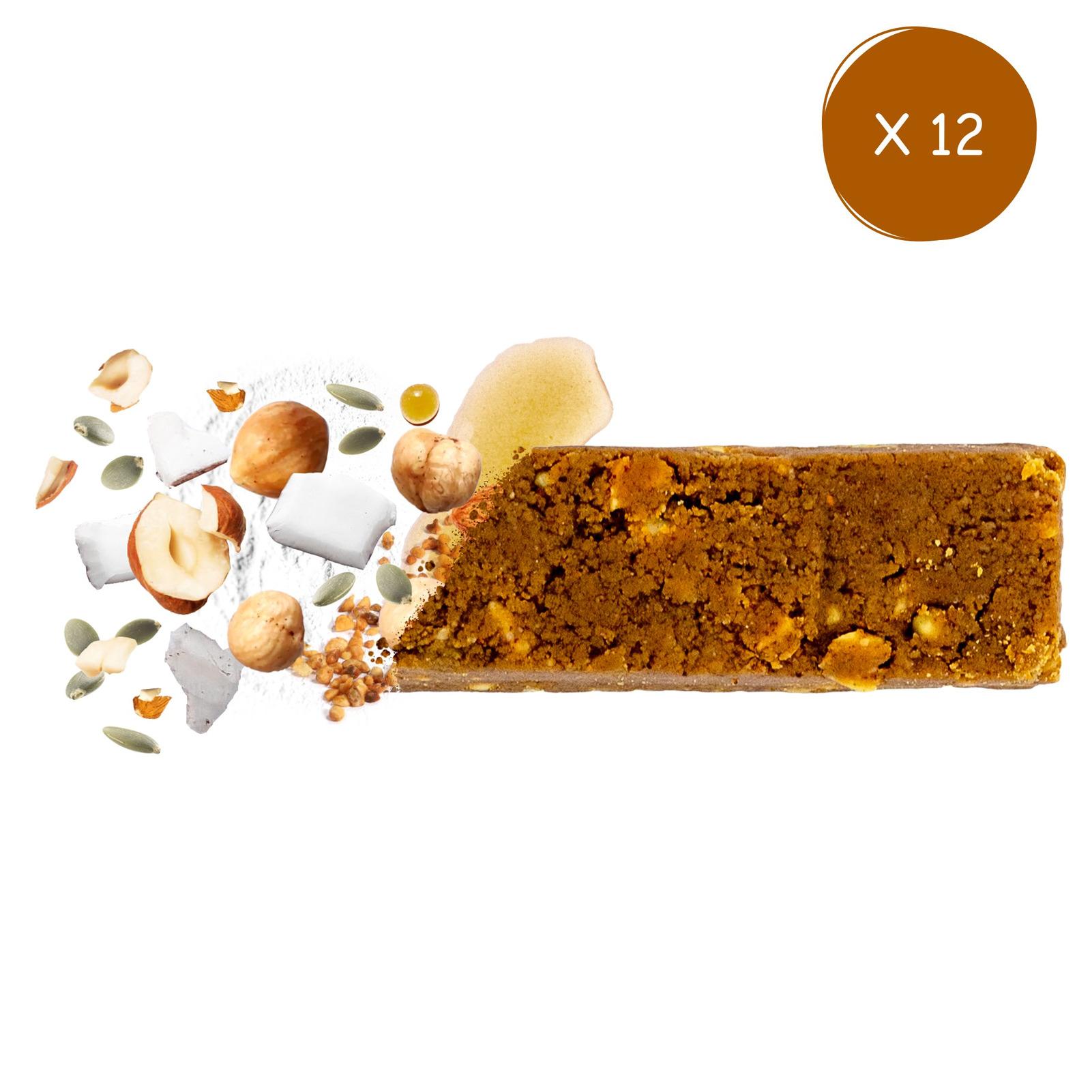 BIOFAIR NUTRITION - Pack éco barres noisette 12 x 33g