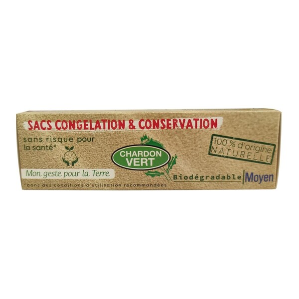 Chardon Vert - Sacs congélation biodégradables 20x4L