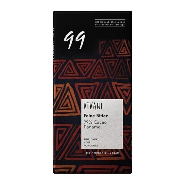 Vivani - Chocolat noir 99% cacao vegan 100g bio