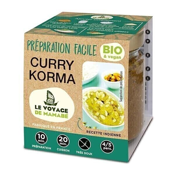 Le Voyage de Mamabé - Préparation pour Curry Korma 80g bio