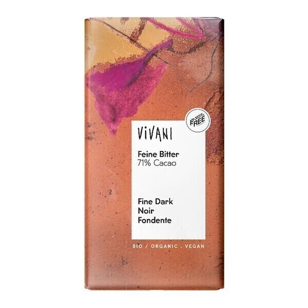 Vivani - Chocolat noir 71% cacao vegan 100g bio