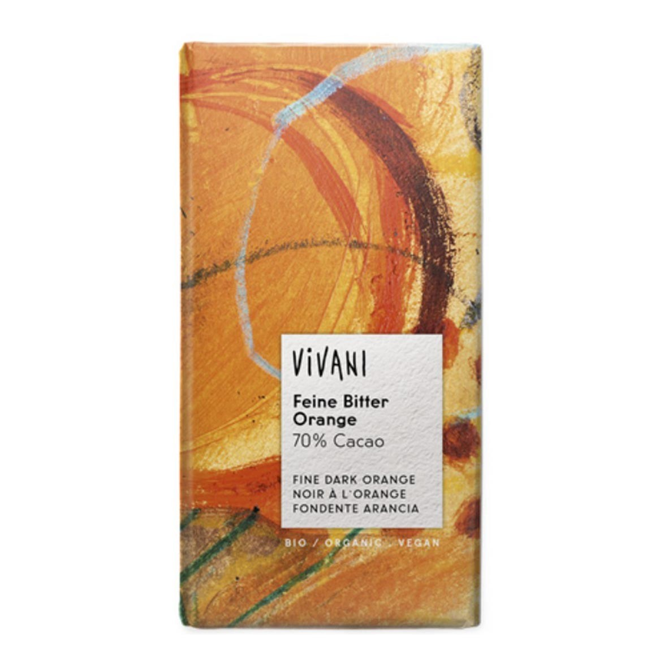 Vivani - Chocolat noir orange vegan 100g bio