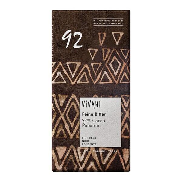 Vivani - Chocolat noir 92% cacao vegan 100g bio