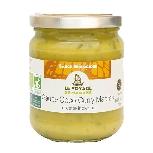 Le Voyage de Mamabé - Sauce coco curry de Madras 190g bio