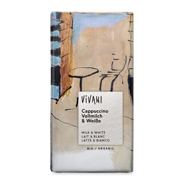 Vivani - Chocolat lait et blanc et cappuccino 100g bio
