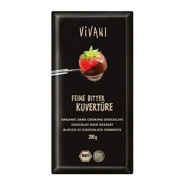 Vivani - Chocolat à pâtisser noir 70% vegan 200g bio