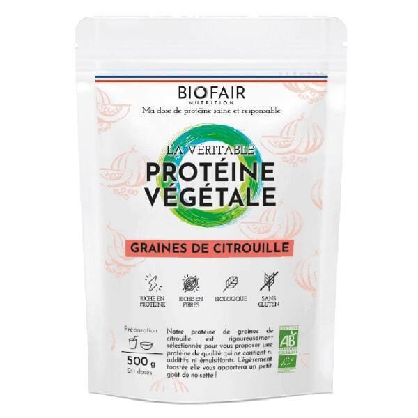 BIOFAIR NUTRITION - La véritable protéine végétale bio Graines de citrouille - 500g