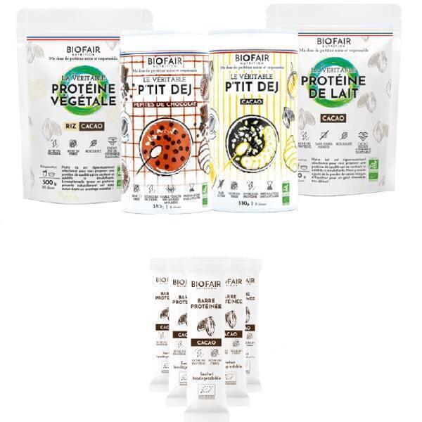 BIOFAIR NUTRITION - Pack tout choco !