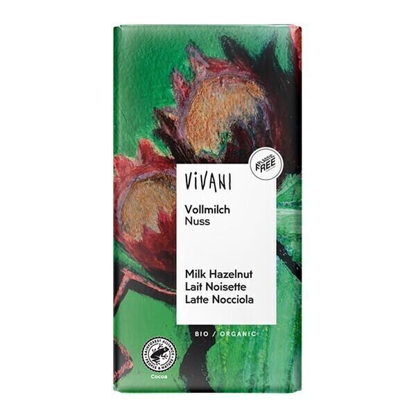Vivani - Chocolat lait aux éclats de noisettes 100g bio