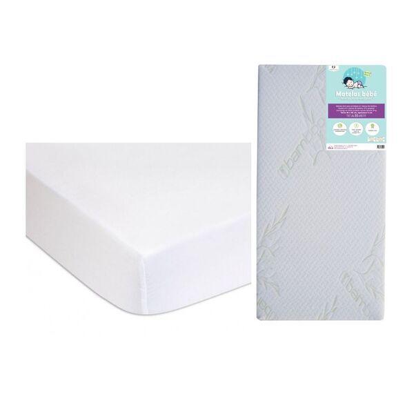 Easy Dort - Matelas 40x80 + 2 Alèses Coton Bio