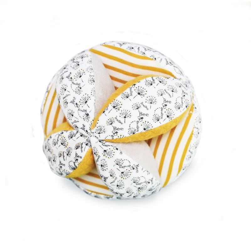 Doudou et Compagnie - Balles de préhension avec hochet coton bio colori aléatoire