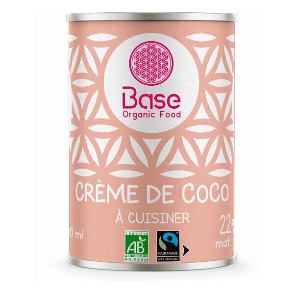 Base Organic Food - Crème de coco 22% MG 400ml bio