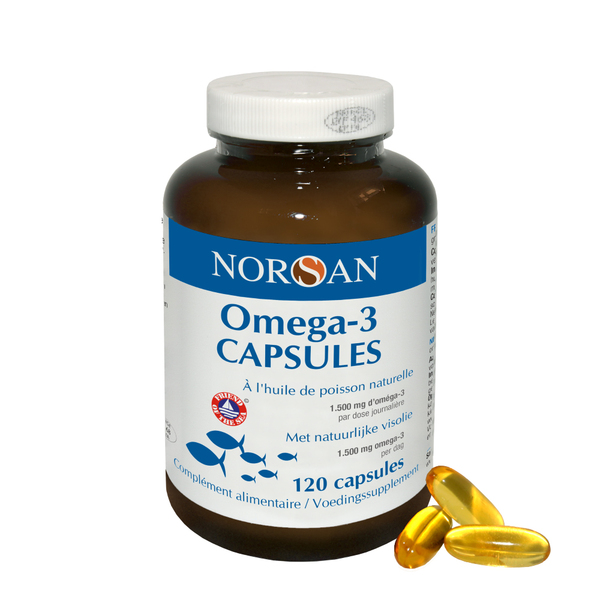 NORSAN - Norsan Omega 3 Capsules 1500 mg Huile de Poisson 120 capsules