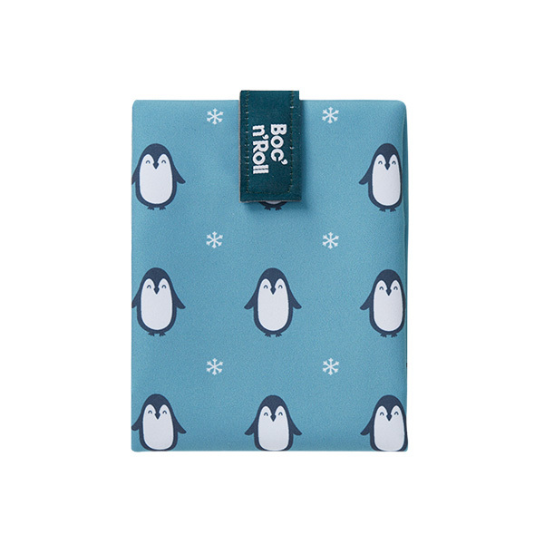 Roll'eat - Emballage sandwich Boc'n'Roll Animals Pingouin