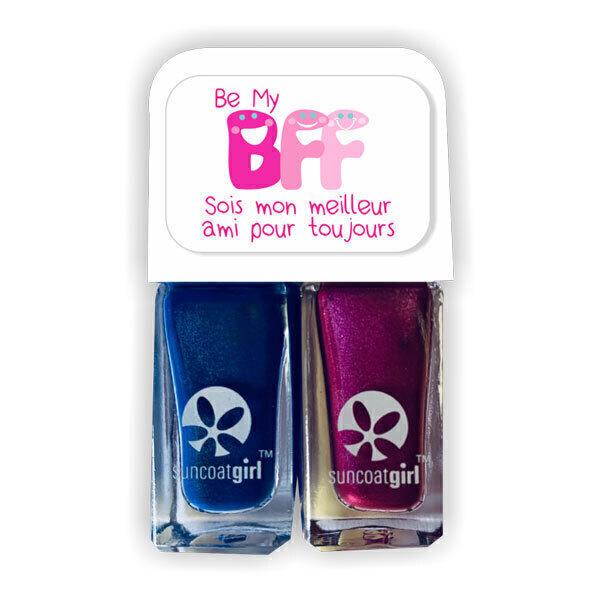 Suncoatgirl - Duo de vernis à ongles BFF Hunnies Violet et Bleu foncé