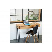 Hellin - Console en bois et métal moderne 2 tiroirs - BRIGHTON