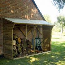 FOREST STYLE - Bûcher en bois MEMPHIS XL 4m3, toit avec pente
