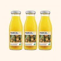 Marcel Bio - Pur Jus d'Ananas Bio - 3 x 25cl