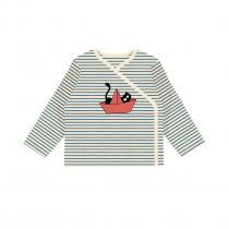 La Queue du Chat - Kimono en coton BIO - Moussaillon rouge corail