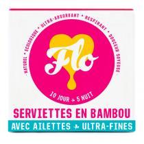 Flo - Pack serviettes bambou bio Jour & Nuit X15