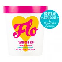 Flo - Pack tampons coton bio avec éco-applicateur Super & Normal X14