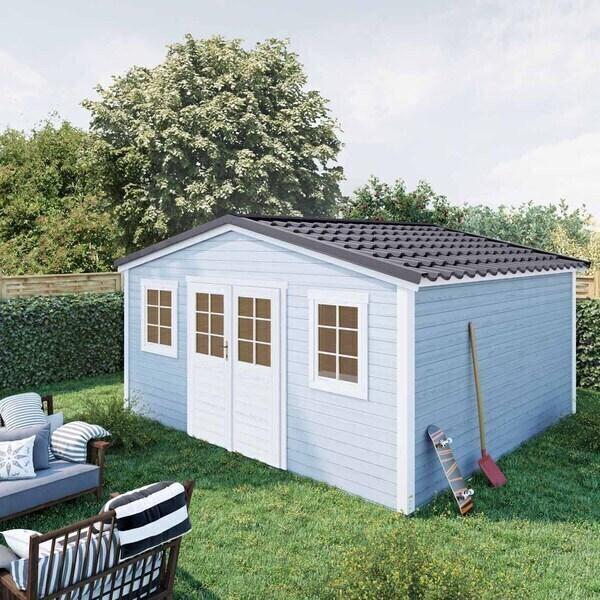 FOREST STYLE - Abri de jardin bois SHELTY PLUS 18m², toiture en acier galvanis
