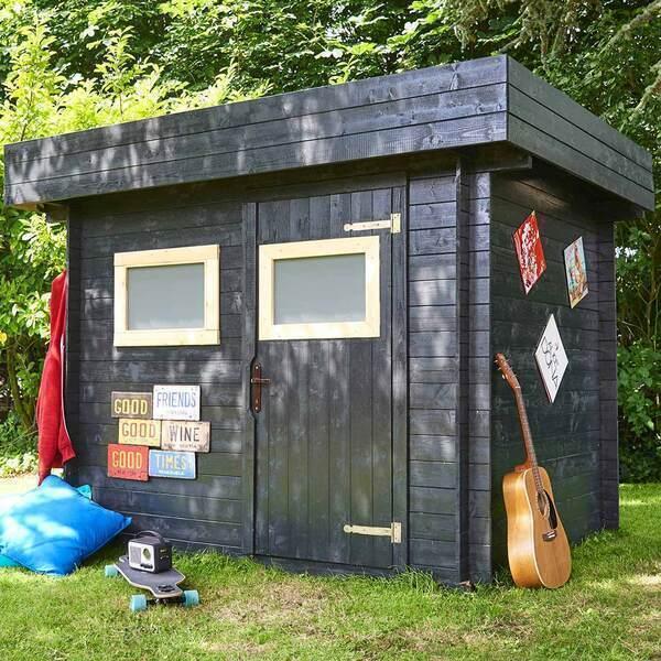 FOREST STYLE - Abri de jardin bois MIKKI 4,8m², madriers 19mm