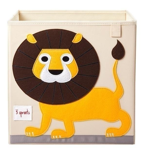 3 Sprouts - Cube de rangement Lion