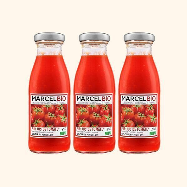 Marcel Bio - Pur Jus de Tomates Bio - 3 x 25cl