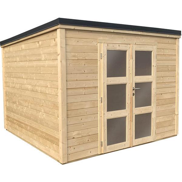 FOREST STYLE - Abri de jardin bois SHELTY PLUS MODERN 9m², toiture en acier ga
