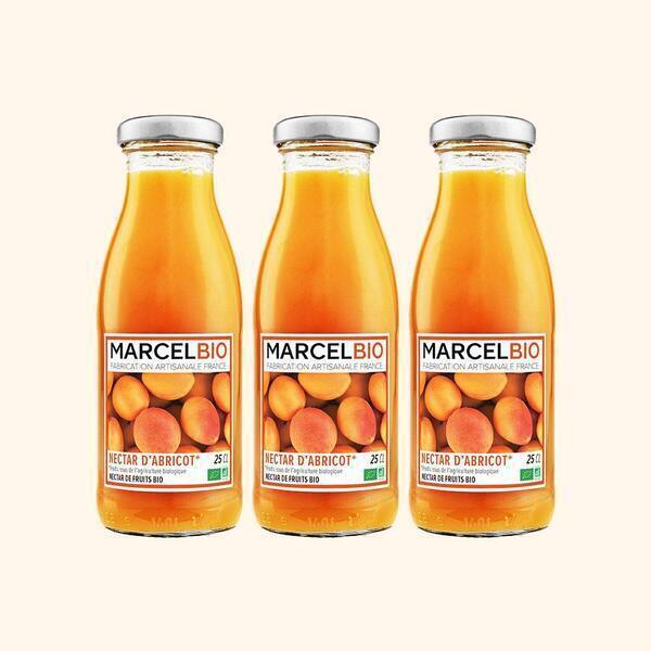 Marcel Bio - Nectar d'Abricot Bio - 3 x 25cl