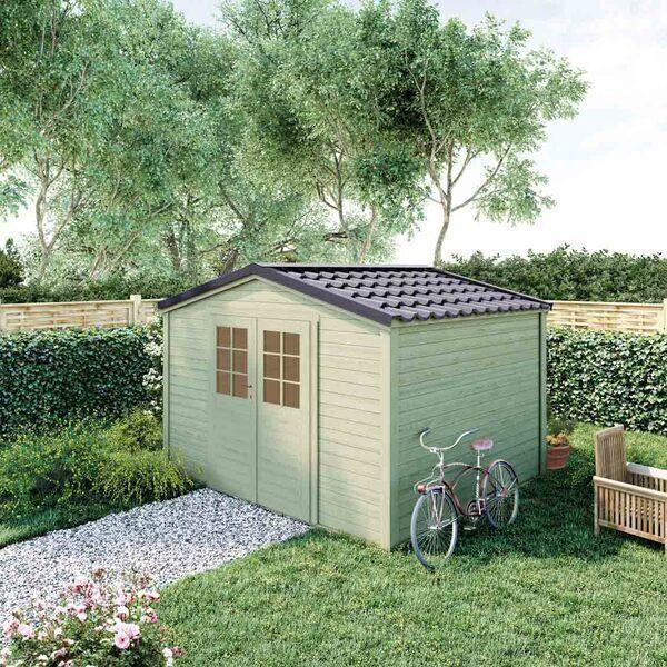 FOREST STYLE - Abri de jardin bois SHELTY PLUS 9m², toiture en acier galvanisé