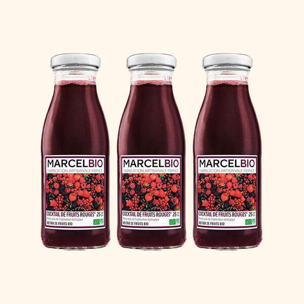 Marcel Bio - Cocktail de Fruits Rouges Bio - 3 x 25cl