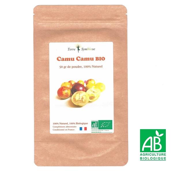 Terre Symbiose - Extrait Camu Camu Bio - 50g poudre - Vitamine C Naturelle 20%