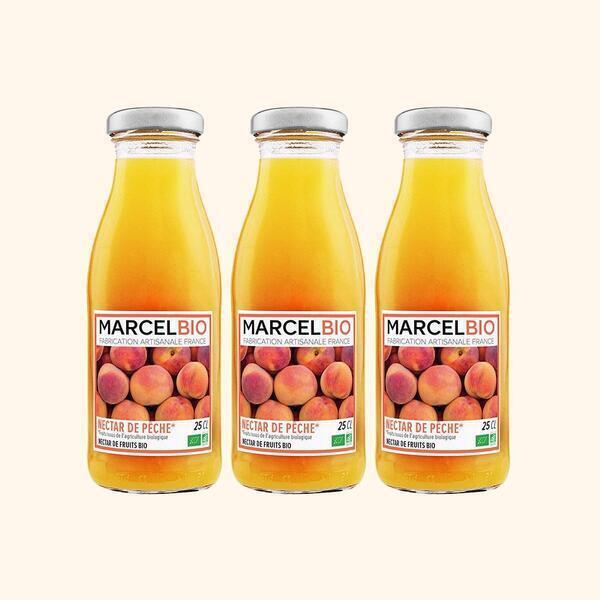 Marcel Bio - Nectar de Peche Bio - 3 x 25cl