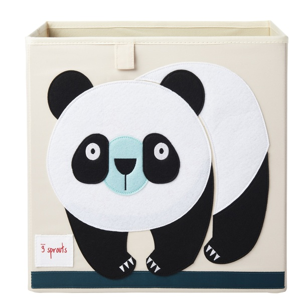3 Sprouts - Cube de rangement Panda