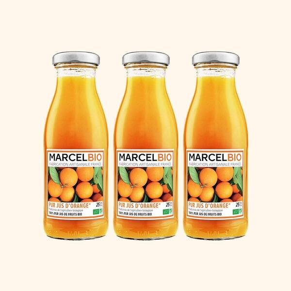Marcel Bio - Pur Jus d'Orange Bio - 3 x 25cl